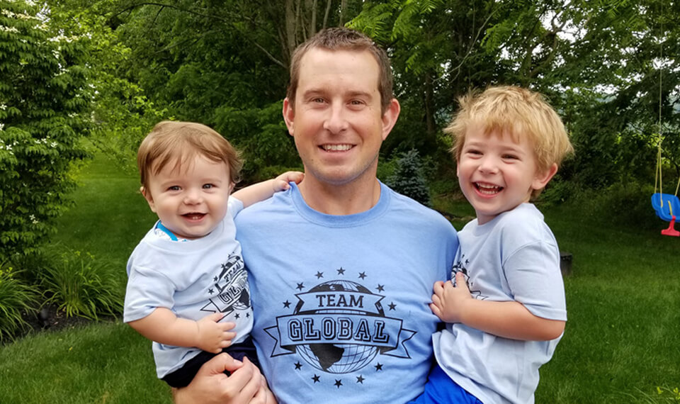 Jon Letko with kids
