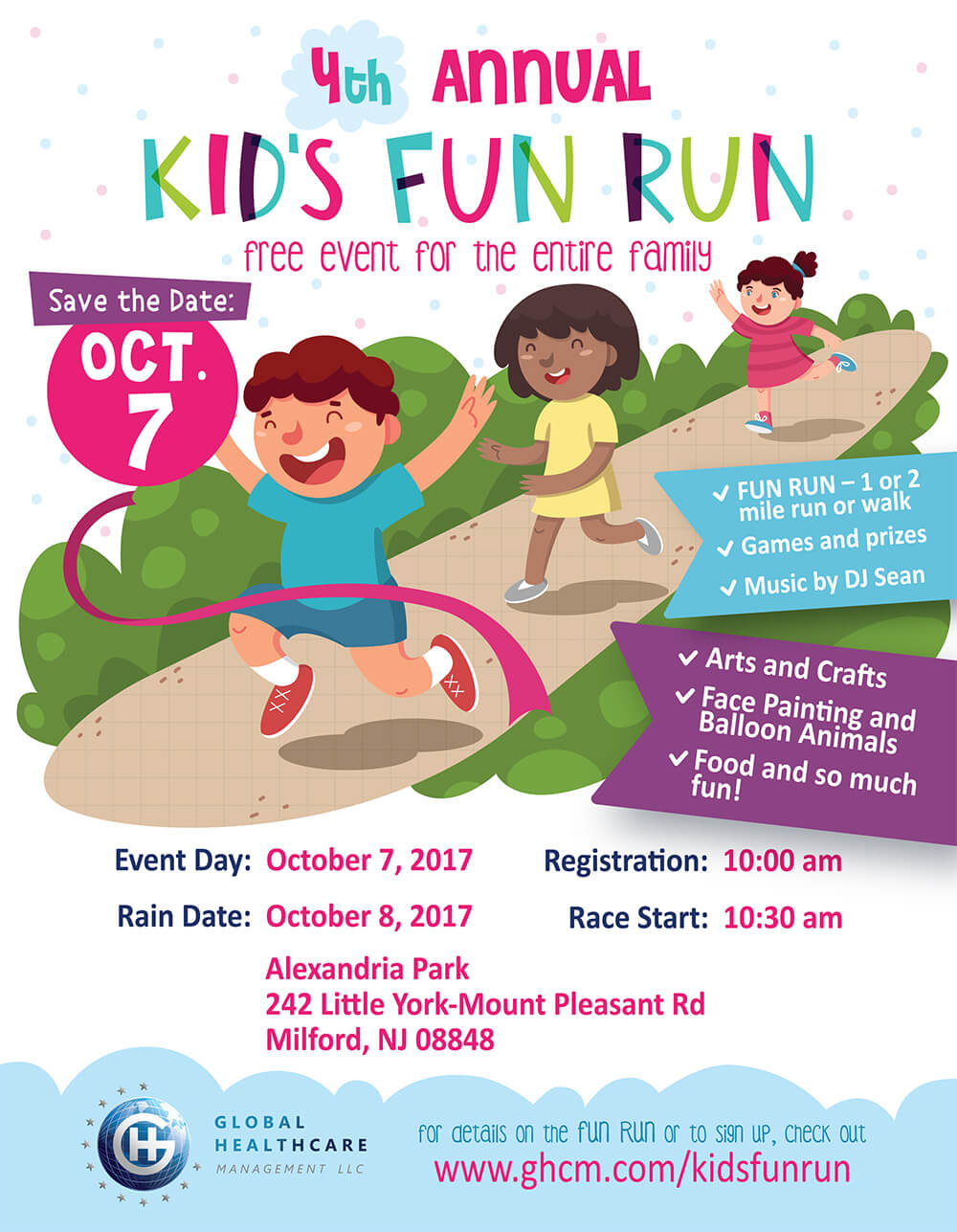 Kids FUN RUN - Free Event hosted by Global Healthcare Management