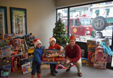 Toy Truck Parade Donations with Milford Fire Department